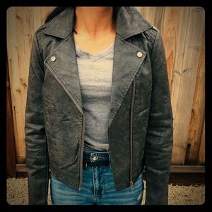 Jack by BB Dakota faux leather moto jacket XS NEW
